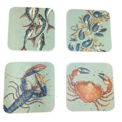 Emma Ball 4 Piece Assorted Nautical Melamine Coaster Set