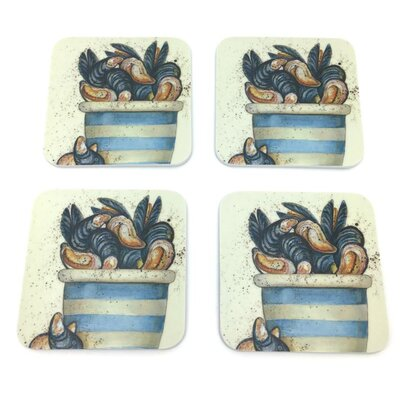Emma Ball Pot of Mussels Melamine Coaster