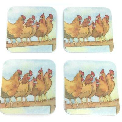Emma Ball Chickens Melamine Coaster