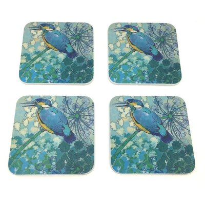 Emma Ball Kingfisher Melamine Coaster