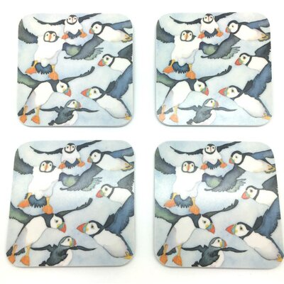 Emma Ball Lots of Puffins Melamine Coaster