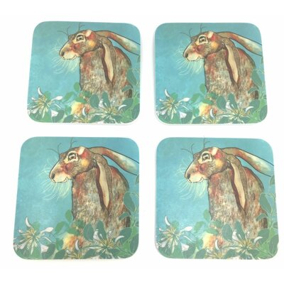 Emma Ball Hare Melamine Coaster