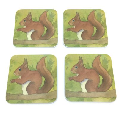 Emma Ball Squirrel Melamine Coaster