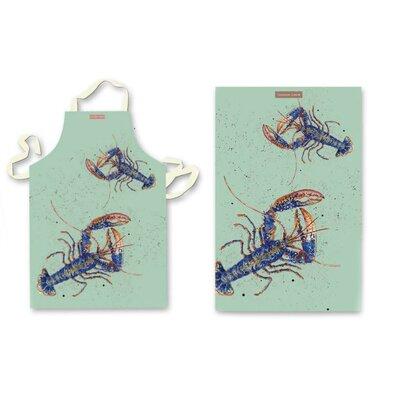 Emma Ball 2 Piece Lobster Apron and Tea Towel Set