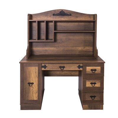 "Pirate 47"" W Writing Desk with Hutch"