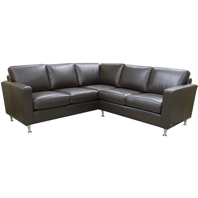Erika Leather Sectional Upholstery: AMB 1133 Natural