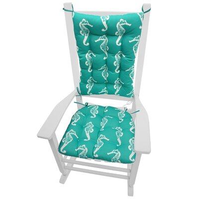 Coastal Outdoor Rocking Chair Cushion by Barnett Home Decor