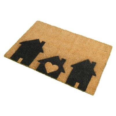 Artsy Doormats Home is Where The Heart is Doormat