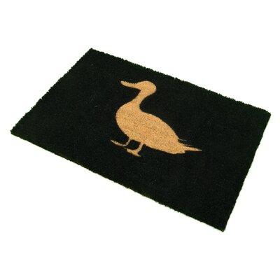 Artsy Doormats Duck on Black Doormat