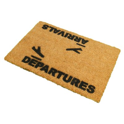 Artsy Doormats Arrivals and Departures Doormat