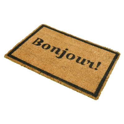 Artsy Doormats Bonjour Doormat with Border