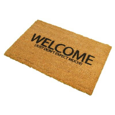 Artsy Doormats Welcome Don't Expect Much Doormat