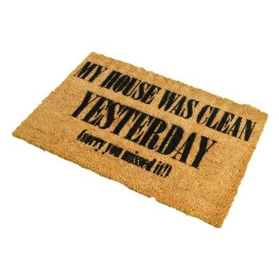 Artsy Doormats My House was Clean Last Week Doormat