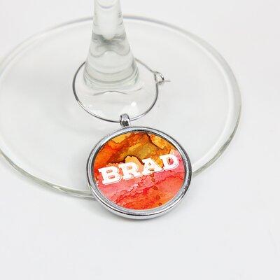 Barnegat Personalized Single Initial Glass Wine Charm