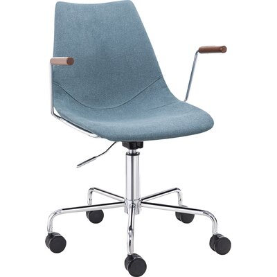 Pacifica Desk Chair Color: Blue