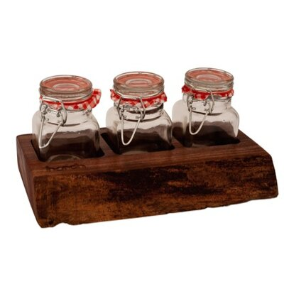 Harch Wood Couture 4 Piece Jar and Display set