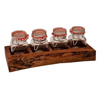 Harch Wood Couture 5 Piece Jar and Display set