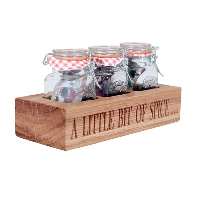 Harch Wood Couture Spice Rack with Kilner Jar