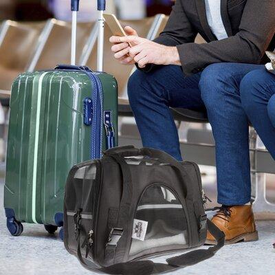 """Airline Compliant Pet Carrier Size: 12"""" H x 10"""" W x 17"""" L"""