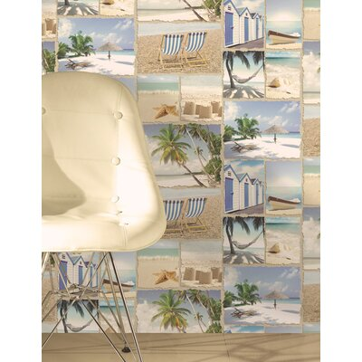 Holden Decor Wish You Were Here 10.05m L x 53cm W Roll Wallpaper