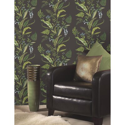 Holden Decor Fern and Flowers 10.05m L x 53cm W Roll Wallpaper