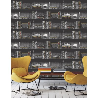 Holden Decor Vintage Books 10.05m L x 53cm W Roll Wallpaper