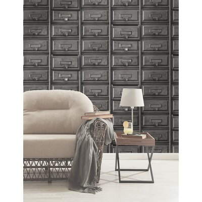 Holden Decor Vintage Drawers 10.05m L x 53cm W Roll Wallpaper