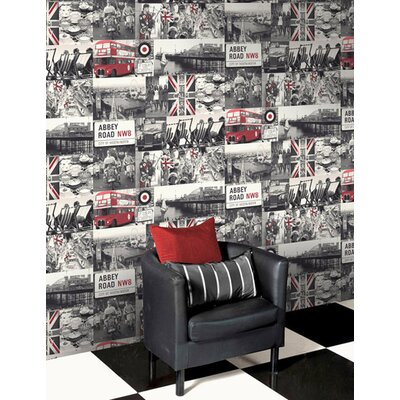Holden Decor Rule Britannia 10.05m L x 53cm W Roll Wallpaper