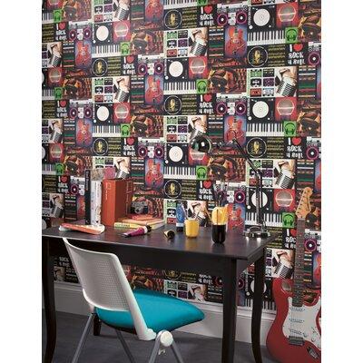 Holden Decor I Love Rock 10.05m L x 53cm W Roll Wallpaper