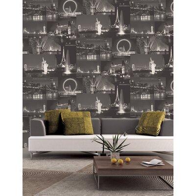 Holden Decor City by Night 10.05m L x 53cm W Roll Wallpaper