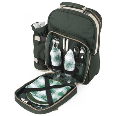 Greenfield Luxury Picnic Backpack Hamper for Two People
