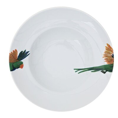 Catchii Birds of Paradise 27.2 cm Lovebird Head and Tail Pasta Plate