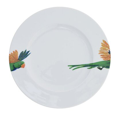 Catchii Birds of Paradise Lovebird Head and Tail Dinner Plate