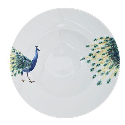 Catchii Birds of Paradise 27.2 cm Peacock Head and Tail Pasta Plate