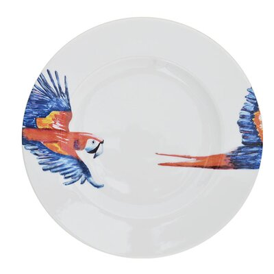 Catchii Birds of Paradise Parrot Head and Tail Dinner Plate