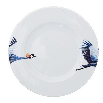 Catchii Birds of Paradise Crane Head and Tail Dinner Plate