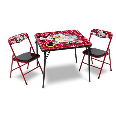 DeltaChildrenUK Minnie Folding Children 3 Piece Square Table and Chair Set