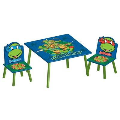 DeltaChildrenUK Ninja Turtles Children 3 Piece Square Table and Chair Set