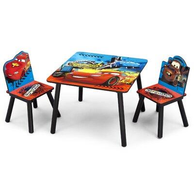 DeltaChildrenUK Cars Children 3 Piece Square Table and Chair Set