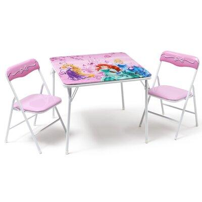 DeltaChildrenUK Princess Folding Children 3 Piece Square Table and Chair Set