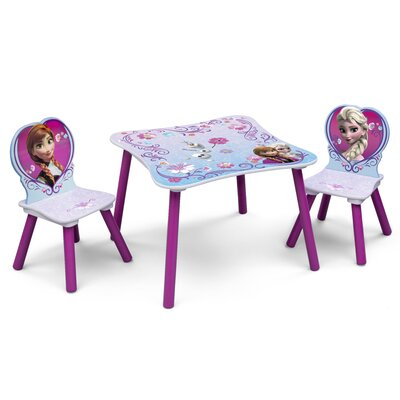 DeltaChildrenUK Frozen Children 3 Piece Square Table and Chair Set