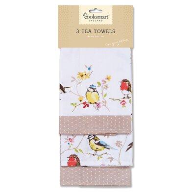 Cooksmart Dawn Chorus 3-Piece Tea Towel Set