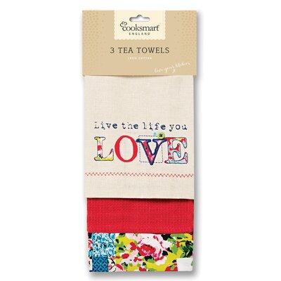 Cooksmart Oriental Patchwork 3-Piece Tea Towel Set
