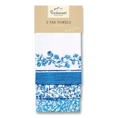 Cooksmart Secret Garden 3-Piece Tea Towel Set