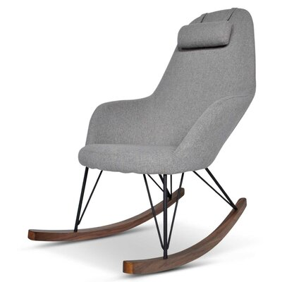 Kira Rocking Chair Upholstery: Gray