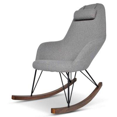 Kira Rocking Chair Upholstery: Gray