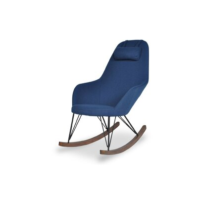 Kira Rocking Chair Upholstery: Blue