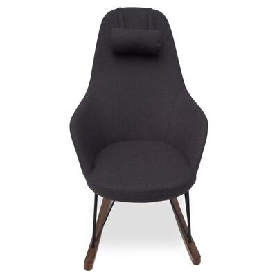 Kira Rocking Chair Upholstery: Charcoal Gray