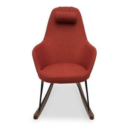 Kira Rocking Chair Upholstery: Red Orange