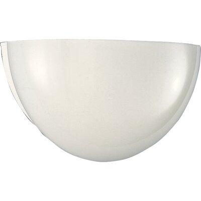 Progress Lighting White Glass Quartersphere Fluorescent Wall Sconce